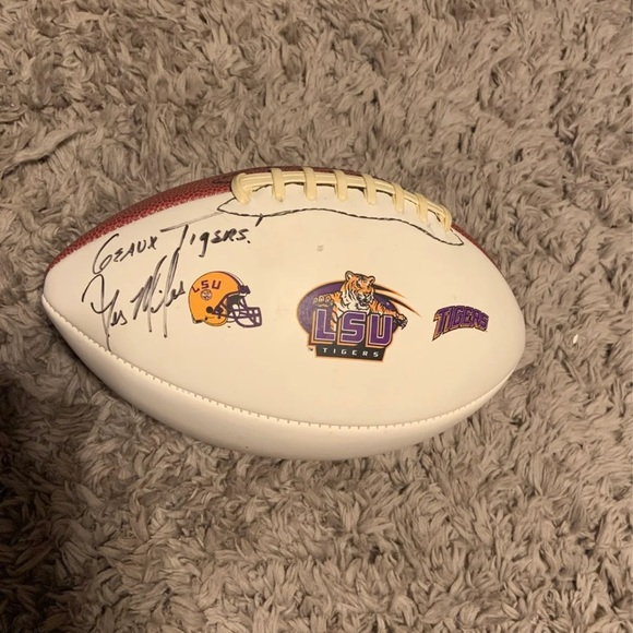 Signed by Les Miles LSU football